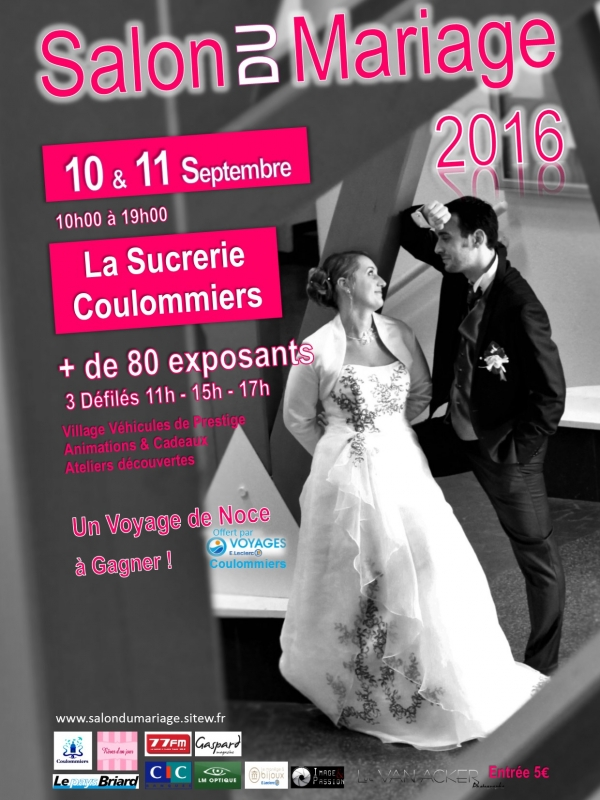 salon du mariage edition 2016 de coulommiers. Black Bedroom Furniture Sets. Home Design Ideas