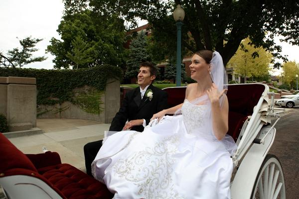 Mariage avec calèche
