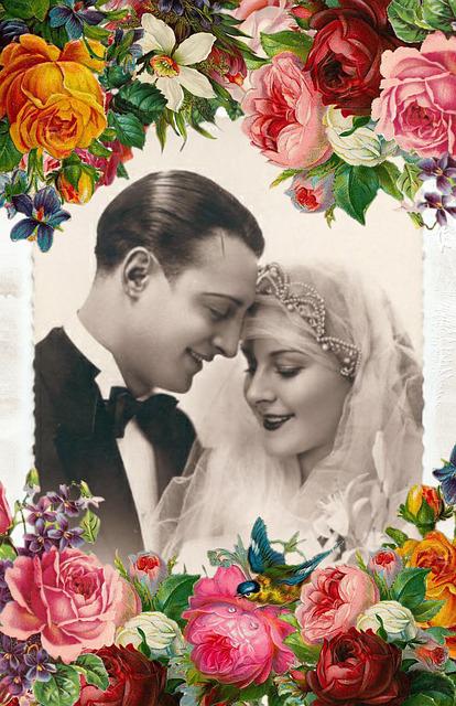 faire-part de mariage vintage