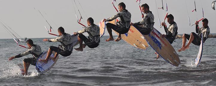 Kitesurf pour enterrement de vie de garçon