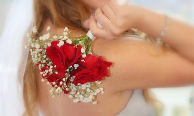 Lancer du bouquet de mariée