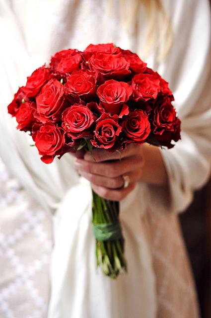 bouquet de roses rouges, symbole de l'amour