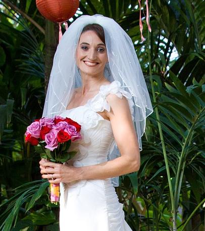 Voile de mariée doigt