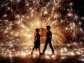 Spectacle danse de feu et lumière