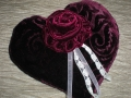 coussin velours coeur