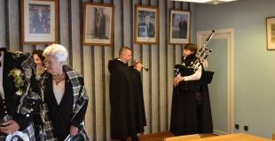 Accueil des mariés à la mairie