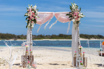 Mariage sur une ile deserte a une heure de l'Ile Maurice